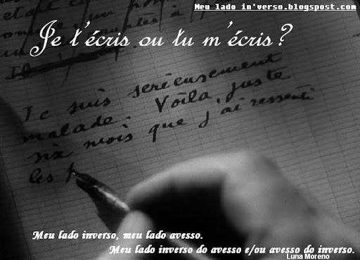 Je t'écris ou tu m'écris?