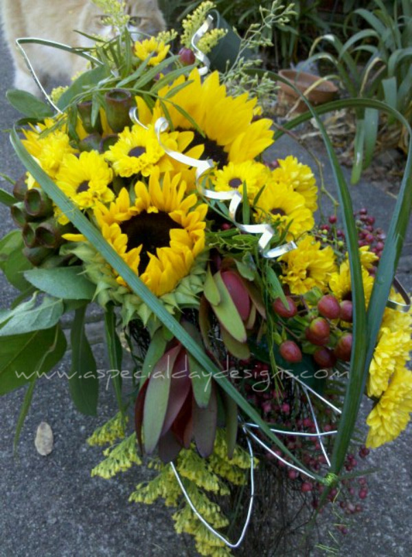 Sunflower Wedding with a Metal Twist Coloma Sacramento Placerville Lake