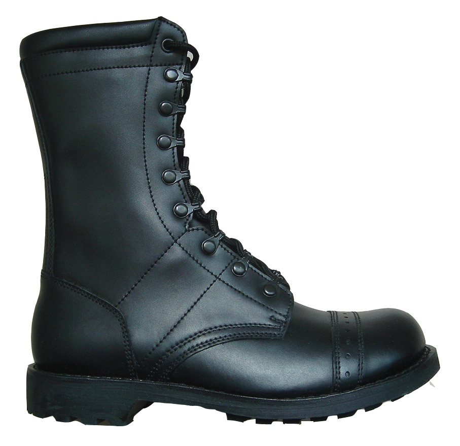 Unique Women Black Military Fold Down Combat Motorcycle Mid Calf Lace Up