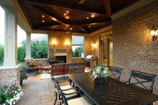 Our home on county road 39 back porch ideas for Back porch fireplace