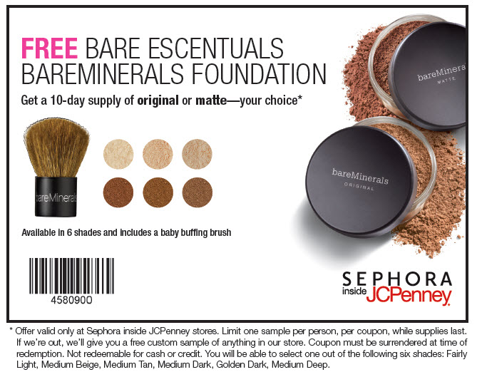 Get the latest Bare Minerals promotion codes to maximize your savings when you enter this coupon code at checkout. Save big bucks w/ this offer: Refer Bare Minerals .