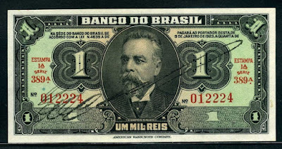 1000 Guaraníes Paraguay, 2006 Brazil-1-Mil-Reis-1944