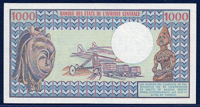 1000 Francs Gabon banknote