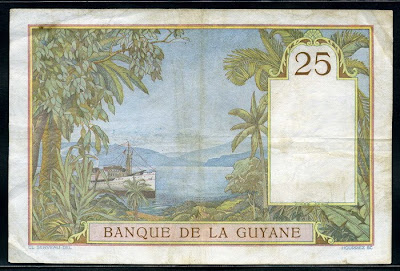 25 Francs French Guiana 1933-1945