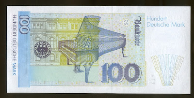 Germany Paper Money currency 100 Deutsche Mark Deutsche Bundesbank
