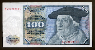 German banknotes 100 Deutsche Mark Munster banknote Deutsche Bundesbank