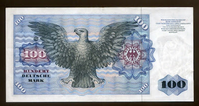 Germany money currency notes 100 Deutsche Mark banknote