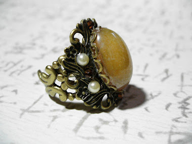 Layered Brass Filigree Ring
