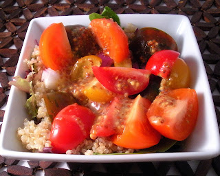 Quinoa and Heirloom Tomato Salad with Mustard Vinaigrette