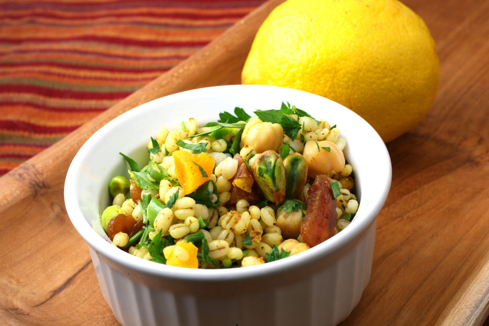 Moroccan Chickpea Barley Salad - Florida Coastal Cooking & Wellness