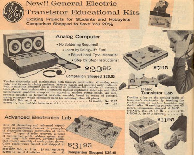 GE Analog computer Radio Shack 1962 catalog p. 322