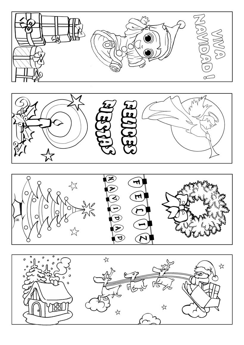 Bicashi: Imágenes Navideñas para colorear con los chicos