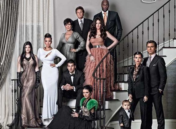 Kardashian Christmas Card 2010 Photo: The Kardashian clan, they really like