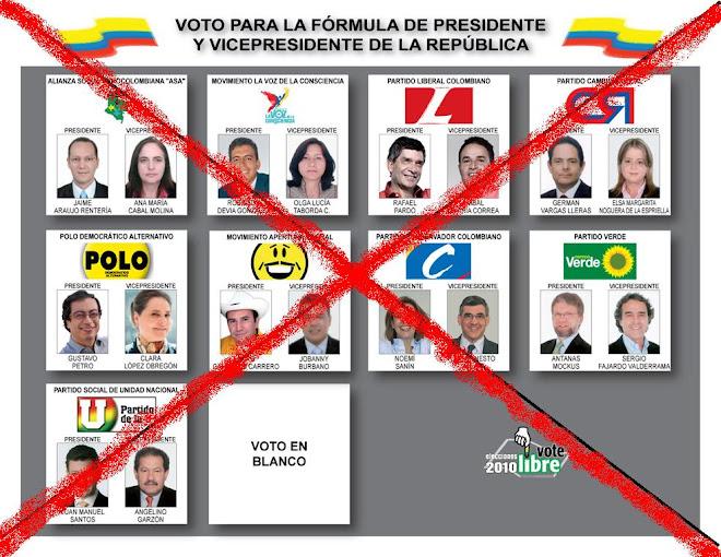 nULO es voto perdido...   ¡para el sistema!