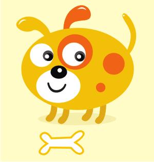 Download Vector: Simple Cute Dog