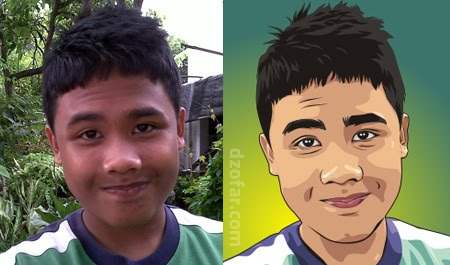 Self Image into vector cartoon