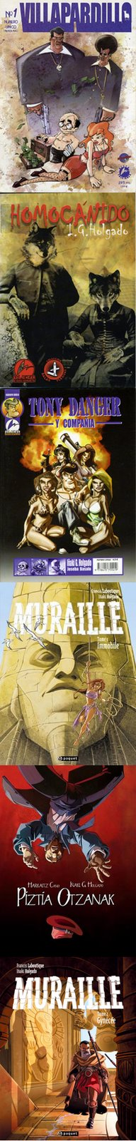 albumes y comic books publicados