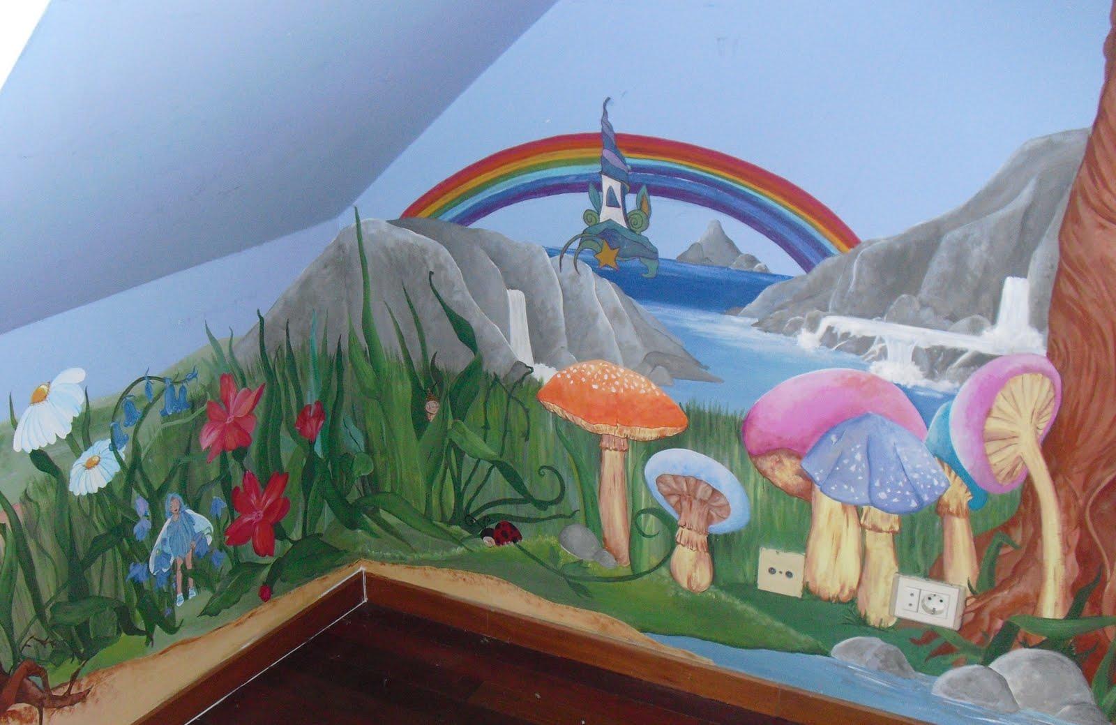 Artesan a y pintura decorativa mural para habitaci n infantil for Mural para habitacion