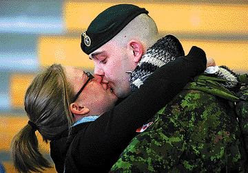 This photo was taken at Cpl Grenon's departure March 7, 2008.