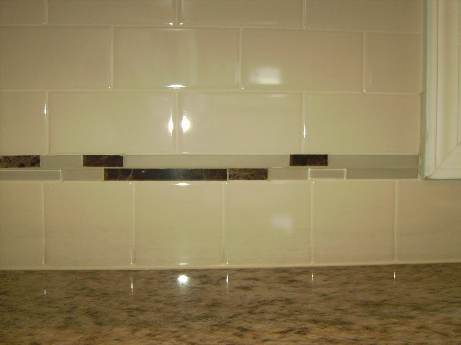 Knapp tile and flooring inc subway tile backsplash for Small glass backsplash tiles