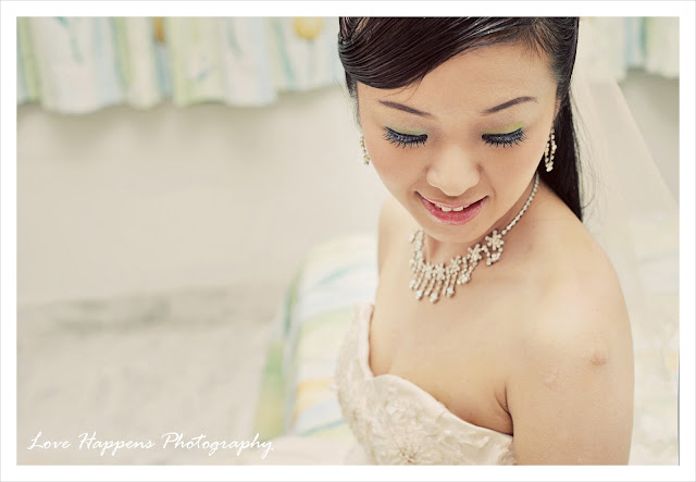 Photo of bride by Malaysia wedding photographer