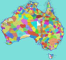 A Map of Aboriginal Australian Nations
