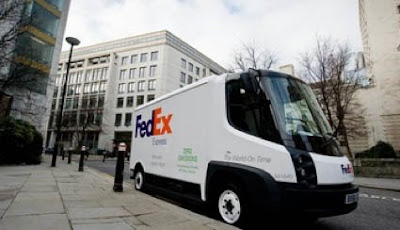 Un Navistar eStar in livrea FedEx