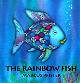 Almost unschoolers rainbow fish craft and birthday party for The rainbow fish by marcus pfister