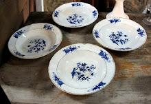 Blue 18th. century plates