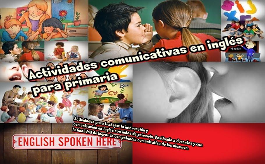 Actividades comunicativas en inglés para primaria
