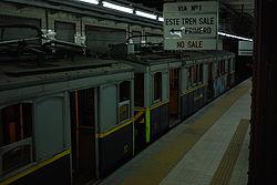 Vista de la estación Primera Junta de la línea A