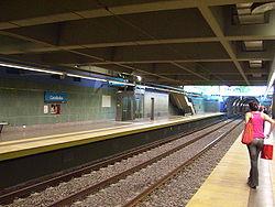 Vista de la estación Carabobo de la línea {{{linea}}}