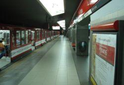Vista de la estación Leandro N. Alem de la línea B