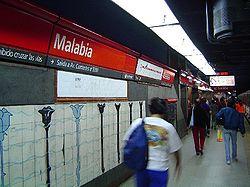Vista de la estación Malabia - Osvaldo Pugliese de la línea {{{linea}}}
