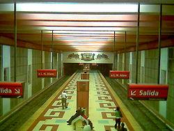Vista de la estación Los Incas - Parque Chas de la línea B