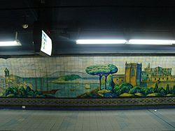 Vista de la estación Moreno de la línea C