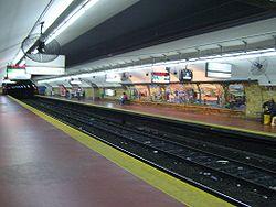 Vista de la estación Entre Ríos de la línea {{{linea}}}