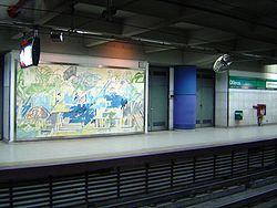 Vista de la estación Olleros de la línea D