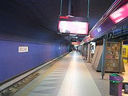 Vista de la estación Bolívar de la línea E