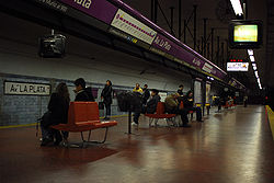 Vista de la estación Avenida La Plata de la línea E