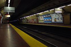 Vista de la estación José María Moreno de la línea E