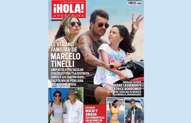 Marcelo tinelli en la tapa de hola for Revistas argentinas de farandula