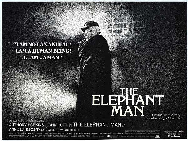 「the elephant man 1980」の画像検索結果