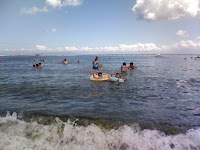 swimming in the sea close to KIX