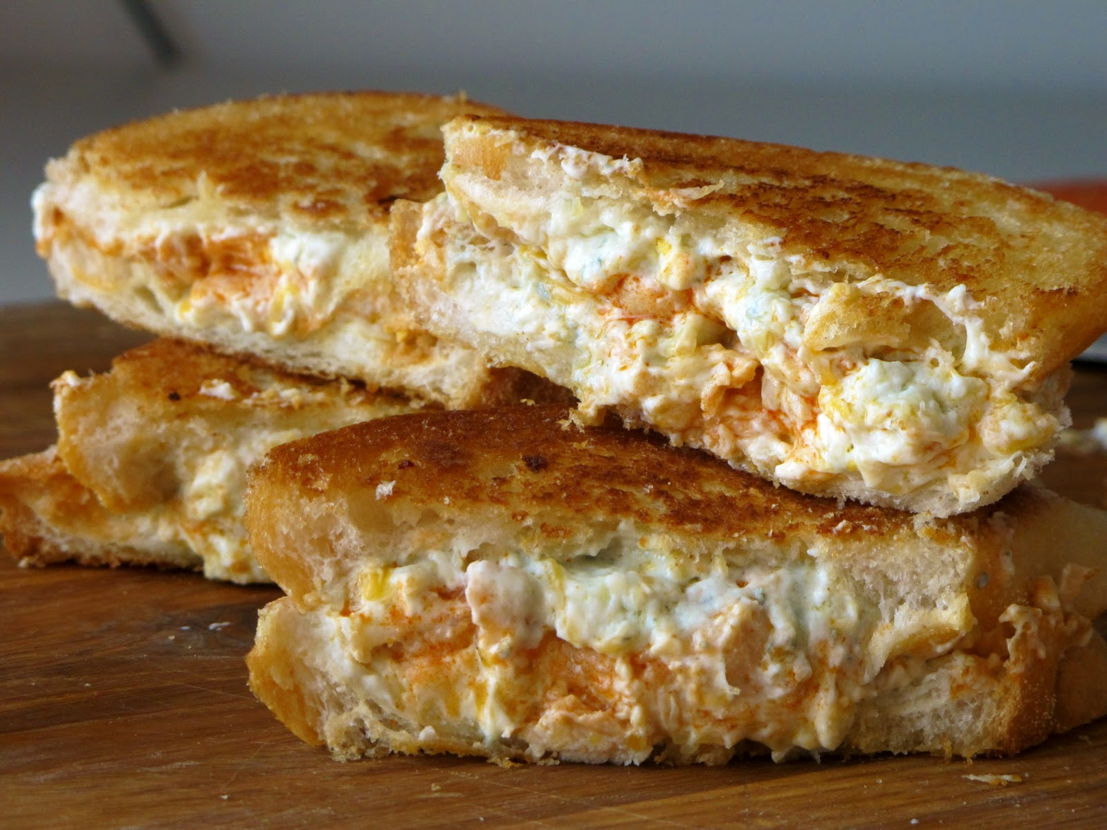 Rec.n Pic. Buffalo Chicken Grilled Cheese Sandwich (oh boy) | Taste of ...