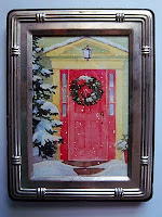 Framed Christmas Card Art on UpcycleFever by SCRAP