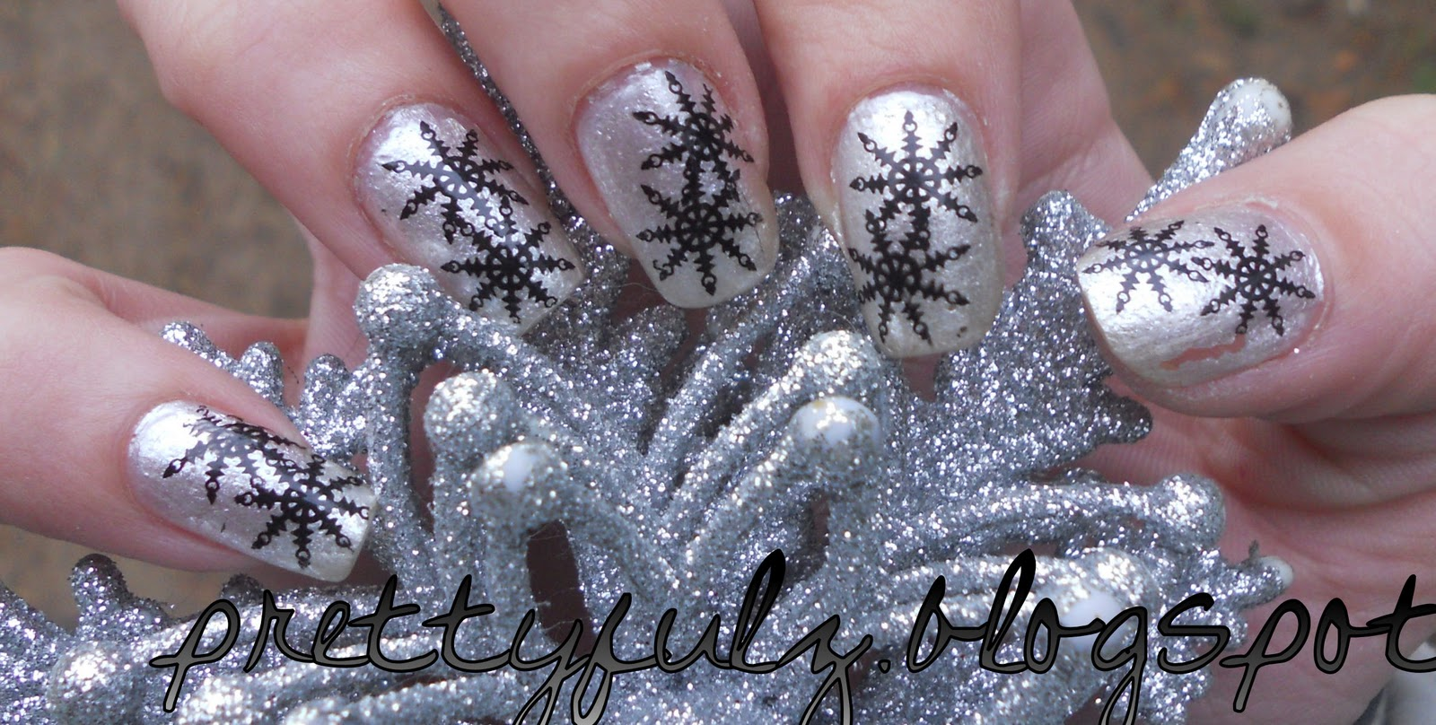 Prettyfulz snowflake nail art design winter nail art design snowflake nail art design winter nail art design prinsesfo Image collections