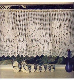 Bonitas cortinas a crochet