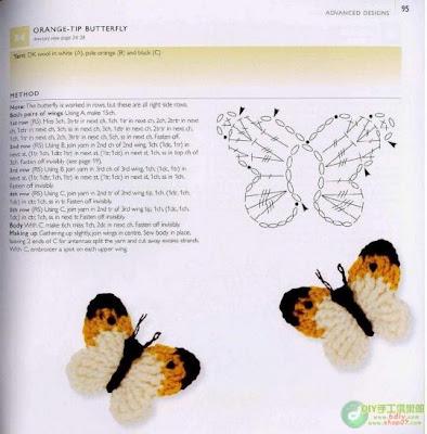 Como hacer mariposas tejidas