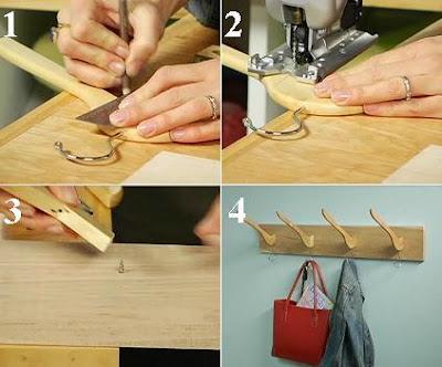 Ideas para reciclar perchero con ganchos de ropa for Ganchos para percheros